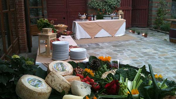 buffet di formaggi menù toscano primaverile ristorante ad arezzo