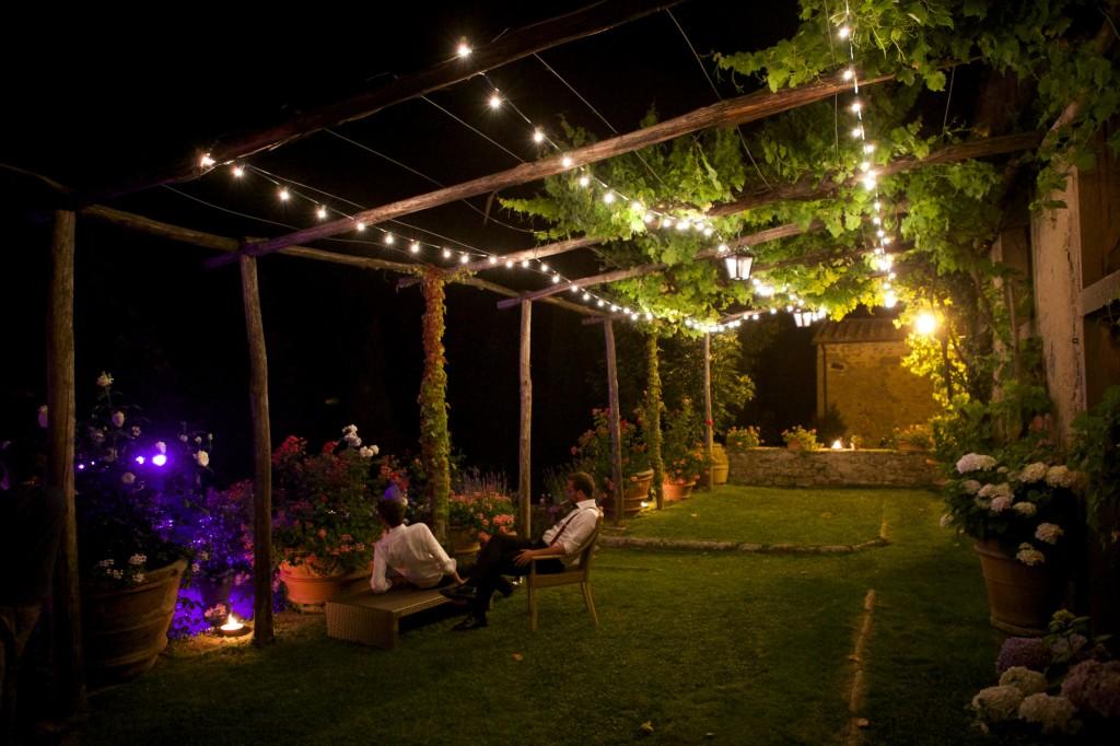 Luminarie per matrimonio in Toscana
