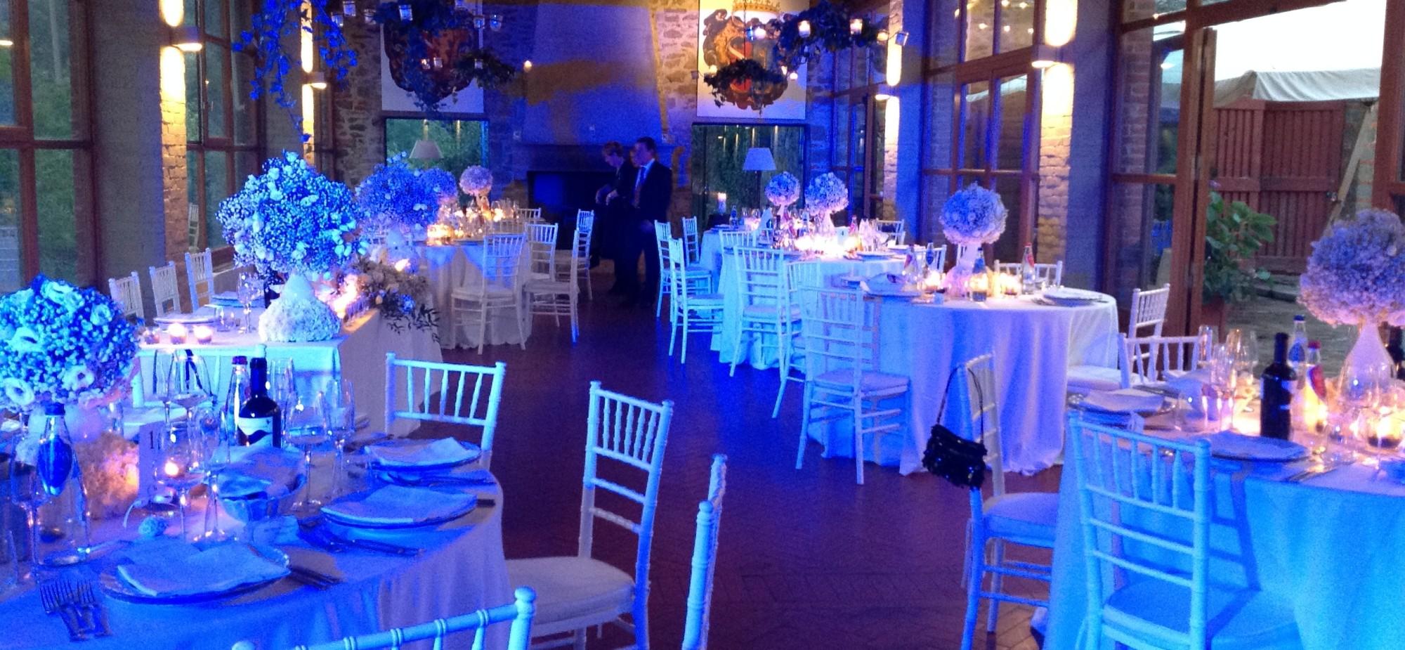 foto sala ristorante blu